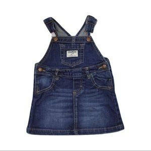 Osh Kosh Girls Denim Overall Dress, Size 24 Months